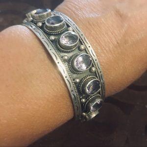 Navajo Sterling Silver & amethyst stone Bracelet